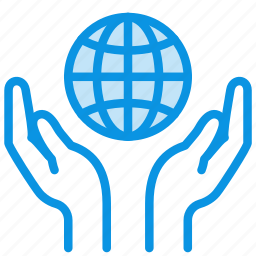 care, cover, hands, peace, save, world icon