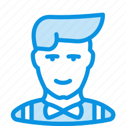 avatar, clerk, hipster, human, man, office, showman icon