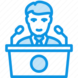 conference, congress, election, meeting, pr, presentation, press, speech icon