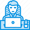 laptop, man, office icon