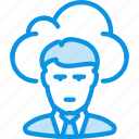cloud, employee, freelance, man, outsoutce, work, worker icon