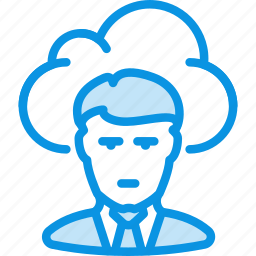 cloud, employee, freelance, man, outsoutce, work, worker icon