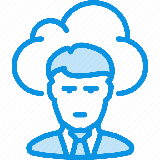 cloud, outsource, person icon
