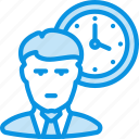 office, person, time icon