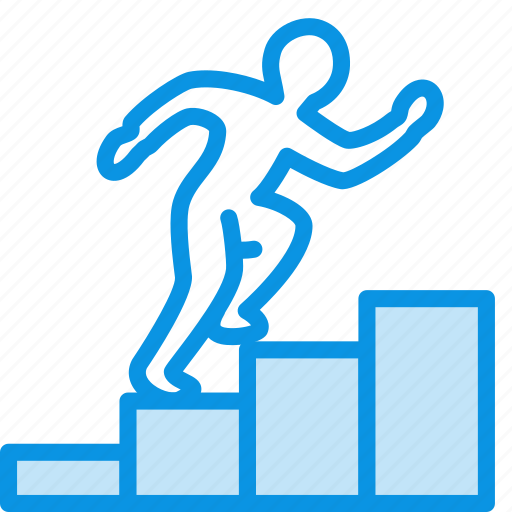 achievement, career, climb up, employee, goal, growth, rise, steps icon