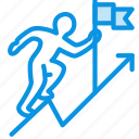 achievement, business, career, climb up, flag, goal, growth, rise icon