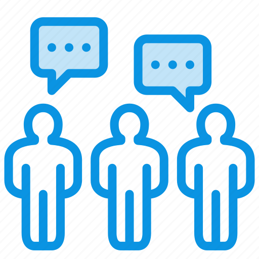 chat, comments, communication, crowd, dialog, forum, people, team icon