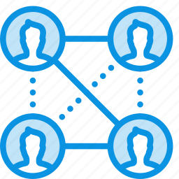 affiliate, connections, friends, network, social, users, work icon