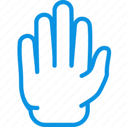 blocking, gesture, hand, high five, palm, restriction, sign, stop icon