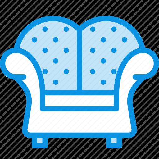armchair, chair, furniture, interior, lounge icon