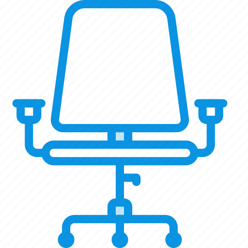chair, office, wheels icon