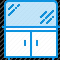 bathroom, cabinet, mirror icon