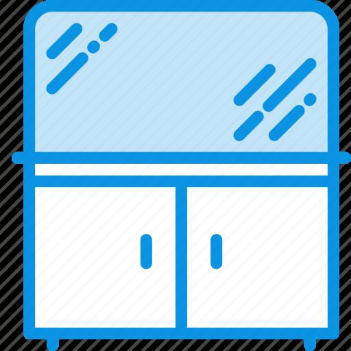 bathroom, cabinet, cupboard, furniture, interior, mirror icon