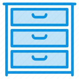 cabinet, cupboard, drawer, furniture, interior icon