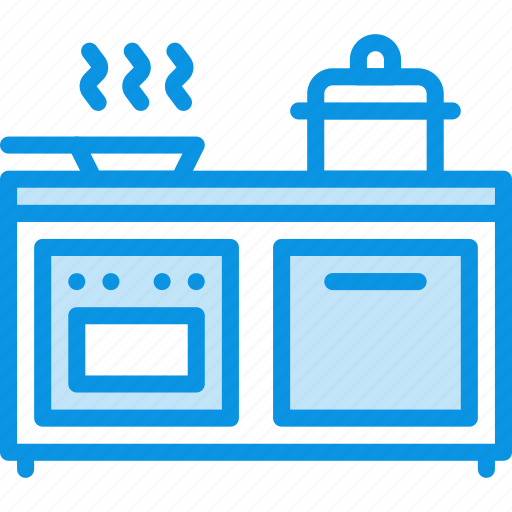 cooker, furniture, interior, kitchen, oven, pan, stewpot icon