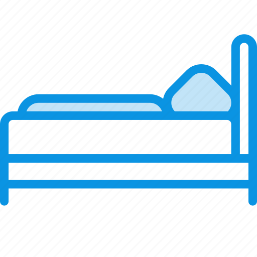 bed, furniture, interior, single, sleep icon