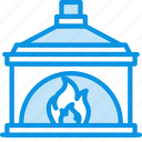 chimney, fire, fireplace icon