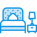 bed, bedroom, interior icon