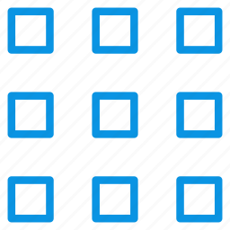grid, layout, medium, thumbnails, view icon
