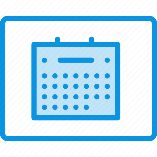 calendar, grid, layout, wireframe icon