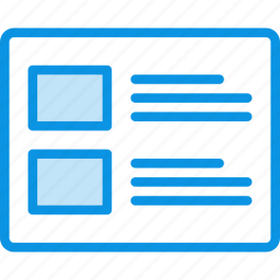 grid, layout, list, posts, wireframe icon