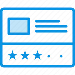 grid, layout, post, rate, rating, wireframe icon