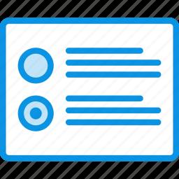 list, radiobutton icon