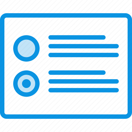grid, layout, list, radiobutton, wireframe icon