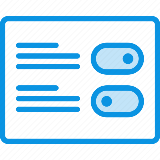 grid, layout, options, preferences, settings, wireframe icon