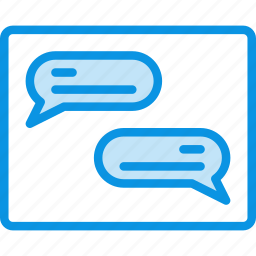 chat, conversation, forum, grid, layout, messages, wireframe icon