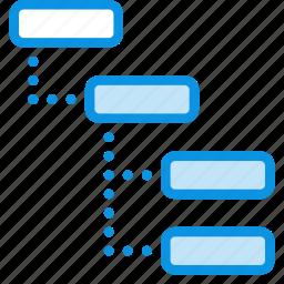 grid, layout, list, sitemap, structure, thread, wireframe icon
