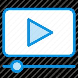 cinema, entertainment, movie, player, watch icon