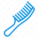 comb, hairbrush, makeup icon