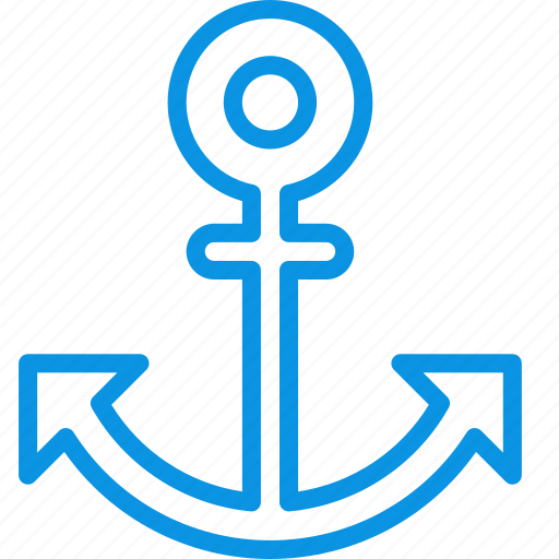 anchor, marine, nautical icon
