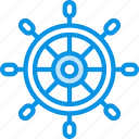 helm, marine, wheel icon