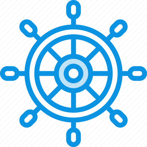marine, nautical, ocean, sea, wheel icon