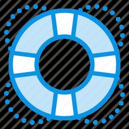 buoy, help, lifebuoy, lifesaver, marine, nautical, support icon