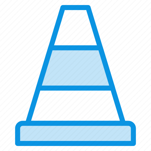 cone, consturction, traffic, transport icon