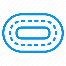road, stadium, track, treadmill, trial icon