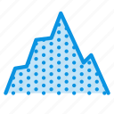 graph, hill, mountain icon