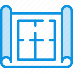 architectural, drawing, plan icon
