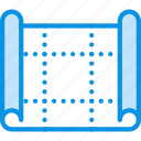 blueprint, drafting, drawing, map, plan, scheme icon