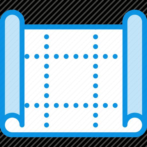 blueprint, drafting, drawing, map, plan, scheme icon