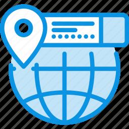 coordinate, earth, geo, globe, info, location, targeting icon