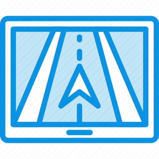 gps, map, navigation, navigator, road, tracker, trip icon