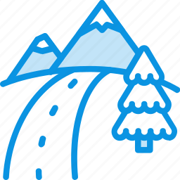maps, mountains, nature, road, route, travel icon
