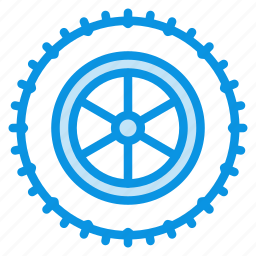 car, studded, tire, wheel icon