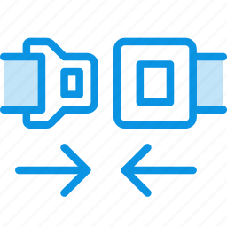 belt, car, safety, seat, unlock icon