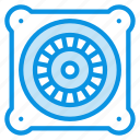 electro, engine, fan icon