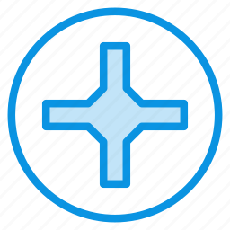 cross, helix, phillips, pin, pozidriv, screw, screwdriver icon